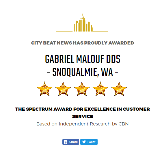 Snoqualmie Customer Service Dental Award